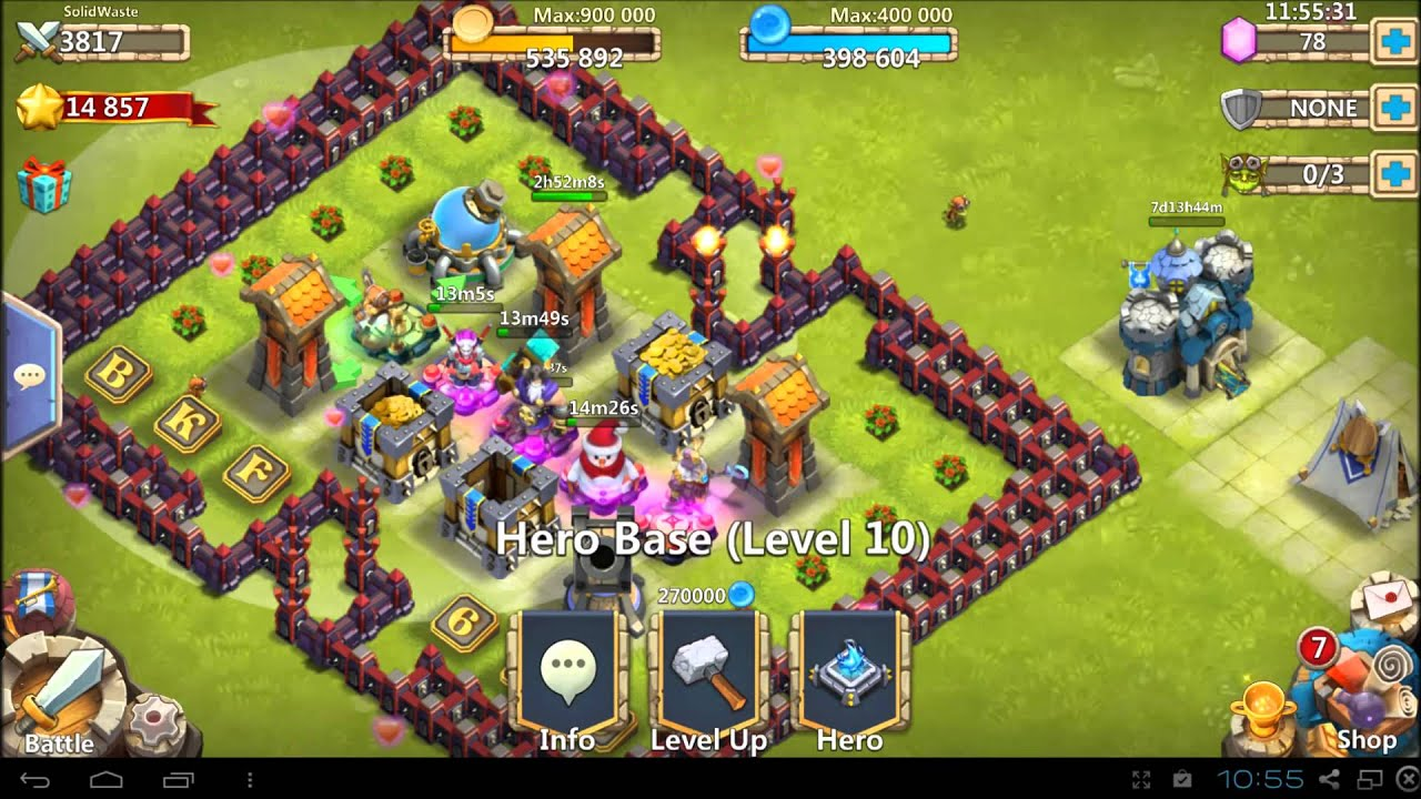 Castle clash how to guide town hall 13 v2 wave d low might