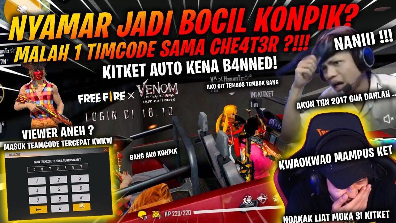 Download Nyamar Jadi Bocil Konfik!! Masuk Timcode Kitket EH Malah Satu tim bareng cheater! AUTO NGAMOK2 DIA !