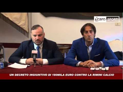 Icaro Sport. Decreto ingiuntivo contro la Rimini Calcio: la conferenza stampa integrale
