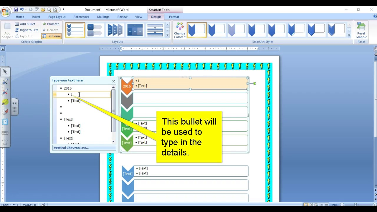 how to use smartart in word