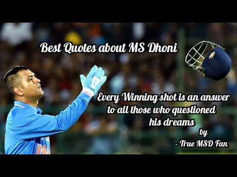 happy birthday captain cool cricket legends quotes on ms dhoni