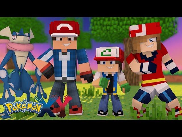 Minecraft: Pokemon X Y - ASH GRENINJA APARECEU #25