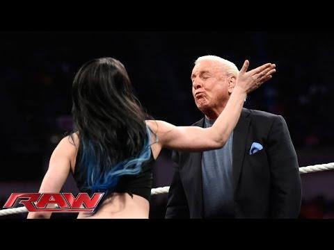 "Charlotte snaps on the set of ""Miz TV"": Raw, December 7, 2015"