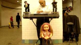 The most interesting  New York subway performer EVER !