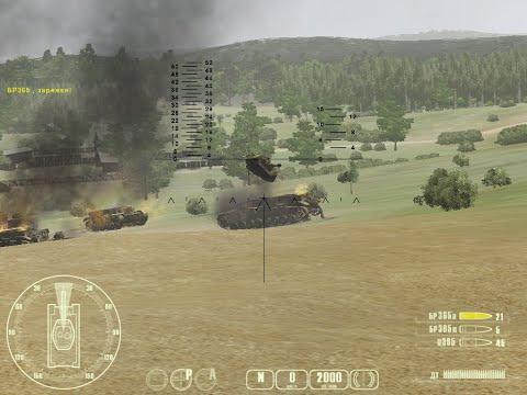 """T-34 против «Тигра» ч.2 - """"T-34 Vs Tiger Tank"""" Прохождение игры: ч.2 В обороне"""