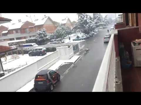 Neve in atto alla ore 09.40 di venerdì 2 marzo a Segrate ( 4km da MIlano)