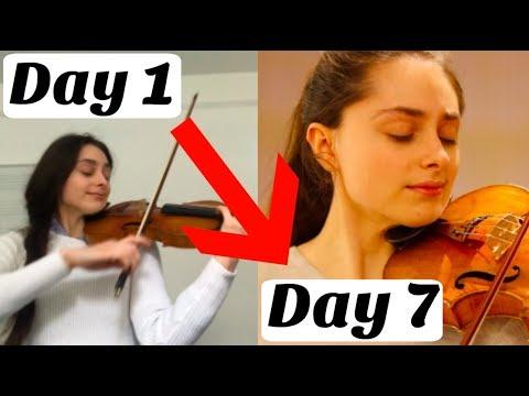 7 Days Progress on a Violin Piece