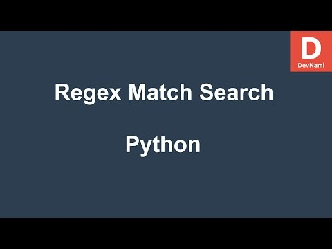 Python Regex Match Search Methods