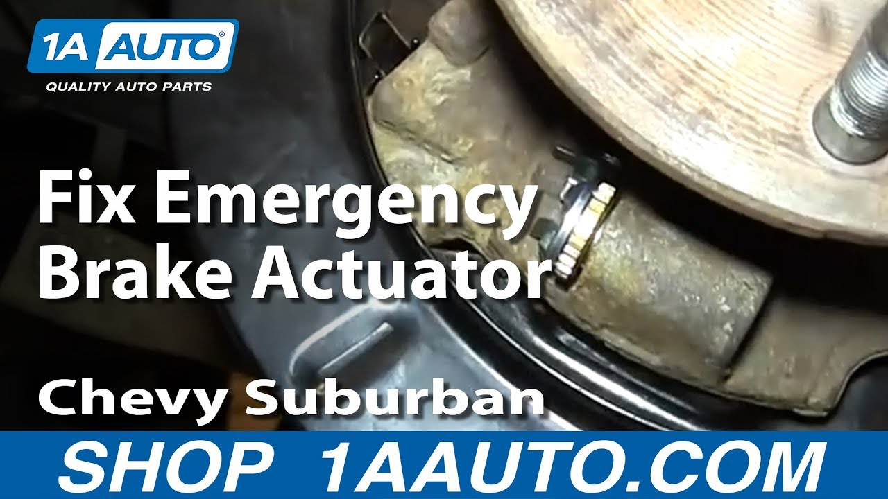 how to rebuild fix emergency brake actuators 2000 06 chevy suburban tahoe gmc yukon youtube [ 1920 x 1080 Pixel ]