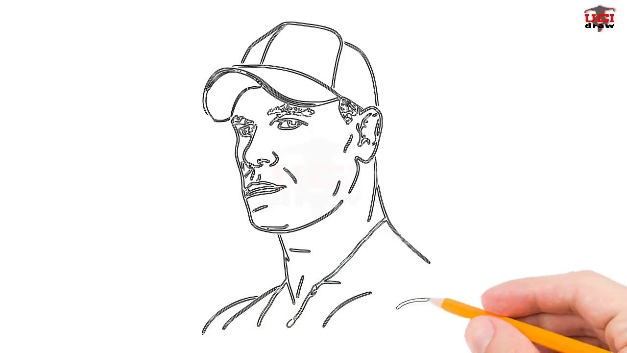 How To Draw John Cena Step By Step Easy For Beginners Kids Simple