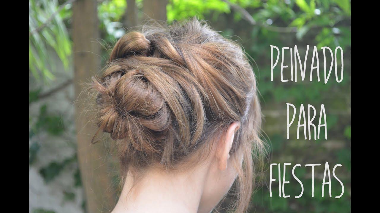peinado para fiestas recogido fcil para pelo corto
