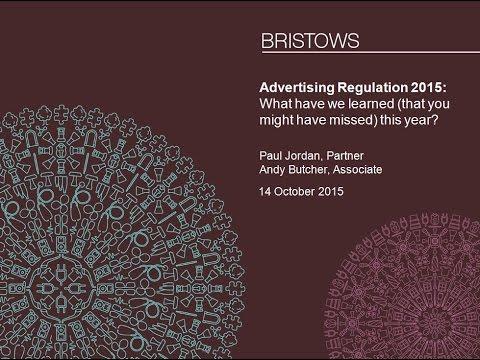 Bristows' TMT seminar: Advertising Regulation 2015