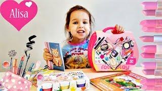 РАСПАКОВКА Алиса показывает покупки НАБОР ДЕТСКОЙ КОСМЕТИКИ Новые игрушки