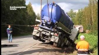 Säiliöauto ojassa Kankaanpäässä 4.9.2014