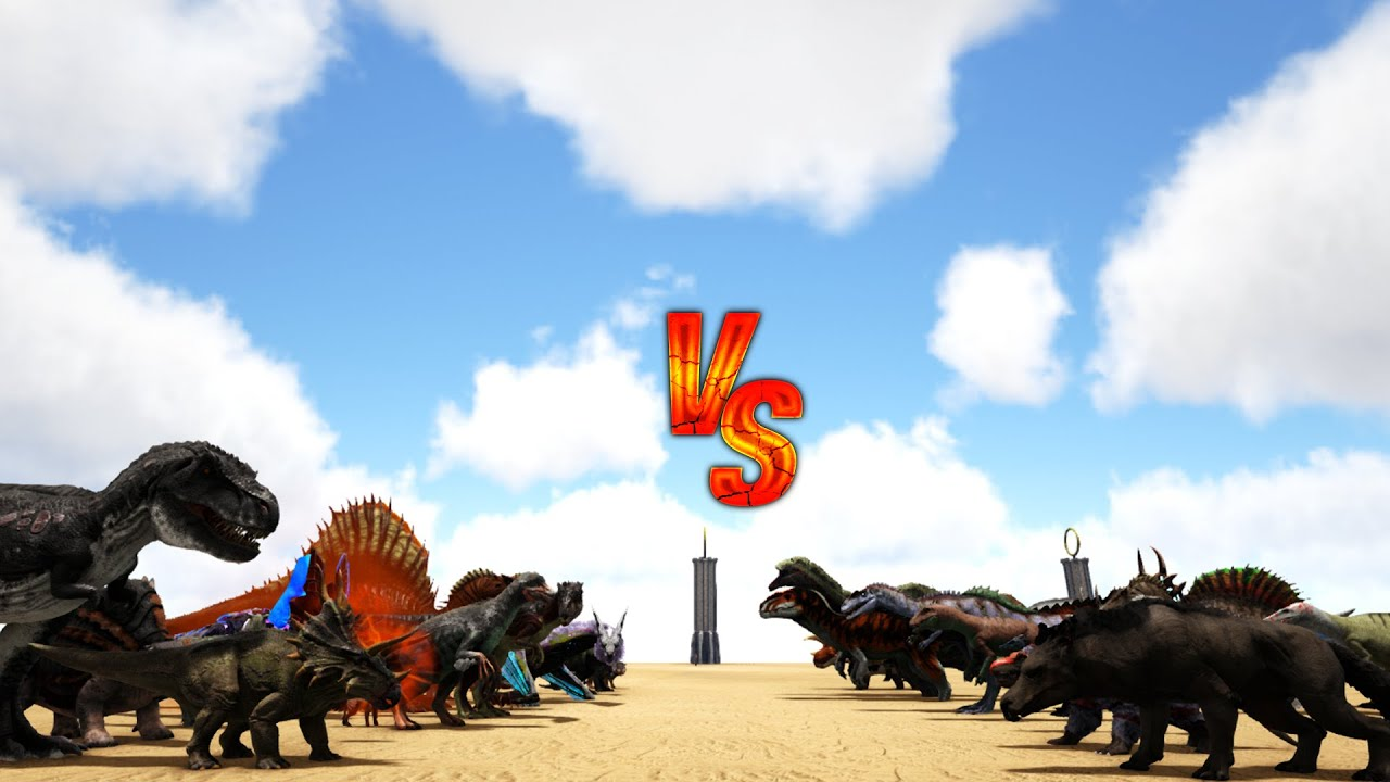 Additional Creatures 2: Wild Ark MOD vs Ark Dinos || Ark Battle
