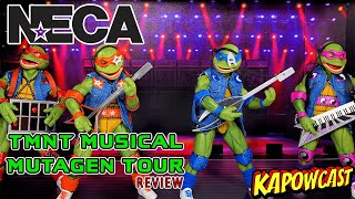 NECA TMNT MUSICAL MUTAGEN TOUR FIGURE REVIEW | COMING OUT OF OUR SHELLS