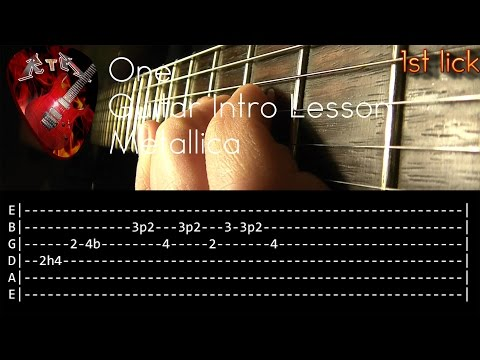 One Guitar Intro Lesson - Metallica (with tabs)