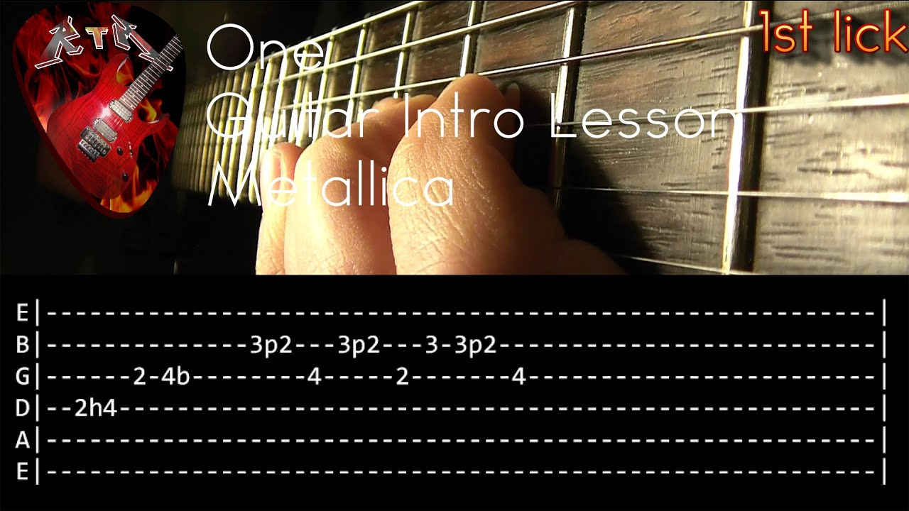 one guitar intro lesson metallica with tabs youtube. Black Bedroom Furniture Sets. Home Design Ideas