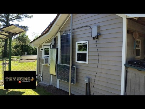 Solar & Wind Power Shop Shed Gets Vinyl Siding Installed Pt 2 By KVUSMC