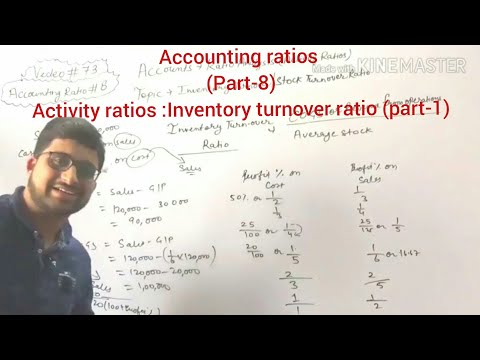 #73,class 12 accounts:accounting ratios(activity ratios:Inventory/stock turnover ratio (part-1)