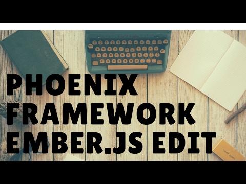 Learn the Phoenix Framework Edit/Delete a Post Ember.js Part 5