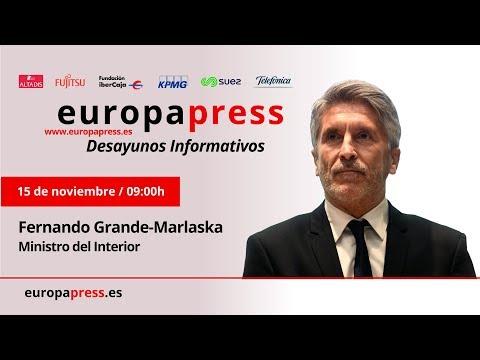 Desayuno Informativo de Europa Press con el Ministro del Interior, Fernando Grande-Marlaska