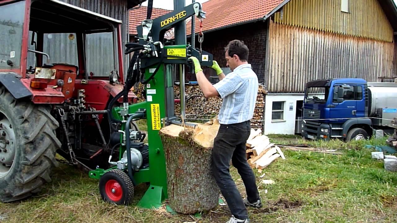 Außergewöhnlich ① Holzspalter mit Zapfwelle & Seilwinde & Elektromotor - günstig &DN_07