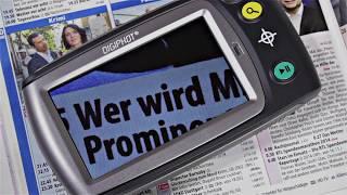 Produktvideo zu Mobile Lesehilfe & Bildschirmlesegerät fürs TV in Einem Digiphot DM-43