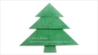 Origami Christmas Tree (Aileen Edwin) Video Tutorial *HD*