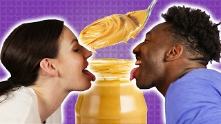 People Try The Peanut Butter Challenge