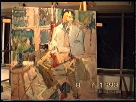 Kostas Loustas is painting Alekos Oudinotis