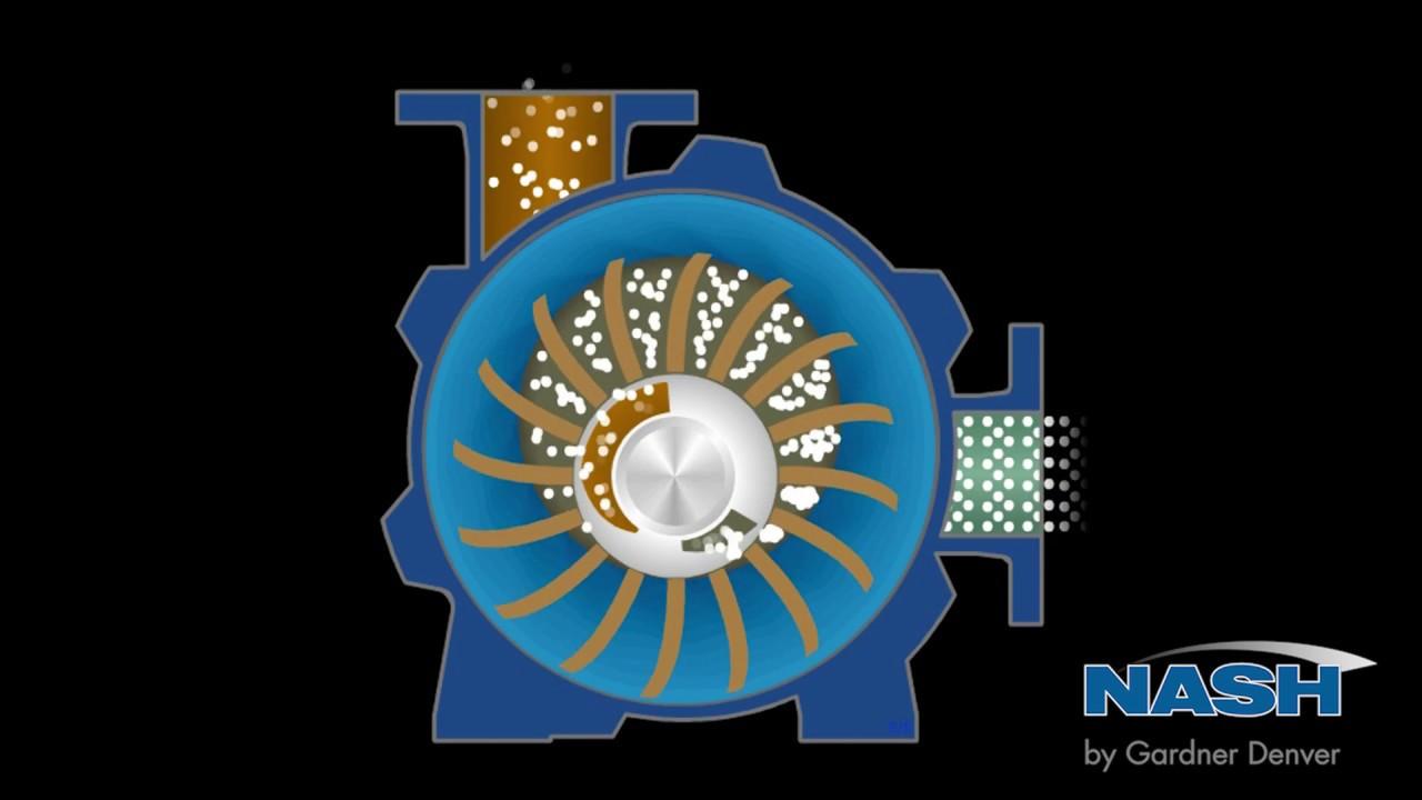 Nash Liquid Ring Vacuum Pump How It Works Youtube
