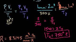 Уравнение идеального газа. Пример 2  | Газы.Молекулярно-кинетическая теория | Химия (видео 3)