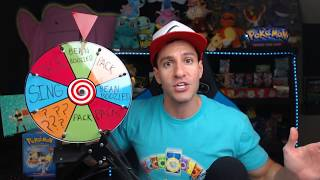 MYSTERY WHEEL OF POKEMON CARDS CHALLENGE! *I Pulled TWO SECRET RARE Cards!*