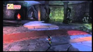 Jugando a Epic Mickey en la Wii