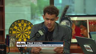 Trae Young Reads The Good, The Bad & The Ugly Of His Draft Profile   The Dan Patrick Show   6/19/18