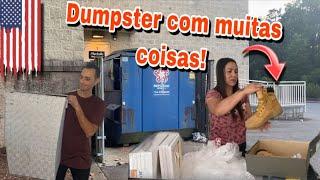 DUMPSTER DOS ESTADOS UNIDOS COM MUITAS COISAS!🇺🇸🇺🇸🇺🇸 Dumpster-basura