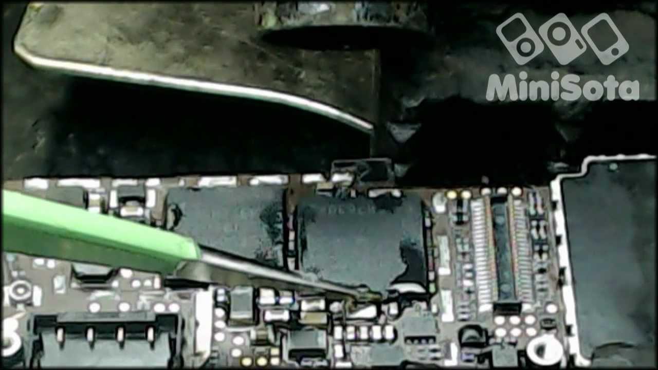 ремонт модема в айфон