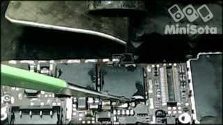 Ремонт iPhone 4 (модемный процессор и flash)(Ремонт iPhone 4, переустановка модемного процессора и модемной flash.