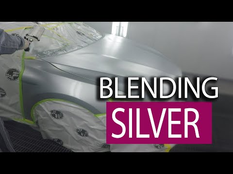 Blending Spray Tips - Silver metallic paint