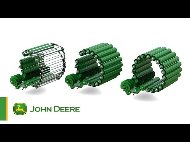 Animacja działania stałokomorowych pras zwijajacych John Deere