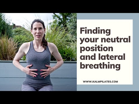Pilates basics: How to find your neutral position and do lateral breathing