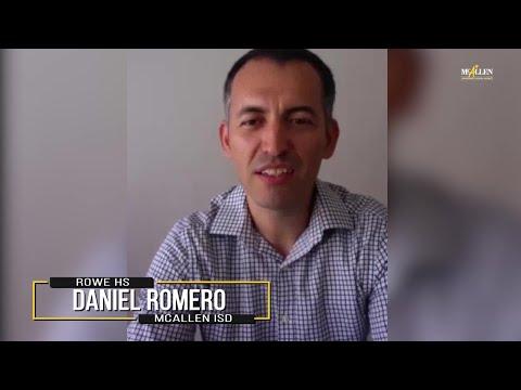 Daniel Romero, 2020 Teacher of the Year from Rowe High School | McAllen ISD