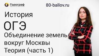 История ОГЭ 2019. Объединение земель вокруг Москвы. Теория (часть 1)