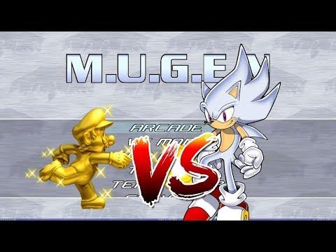 MUGEN: Gold Mario vs Hyper Sonic