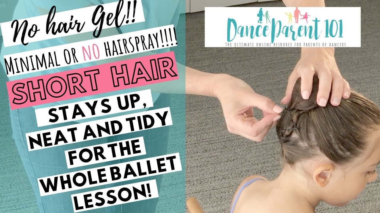 How to Do a Ballet Bun on Short Hair For Dance Class