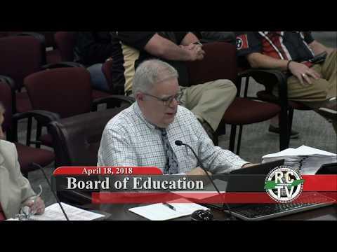Board of Education - April 18, 2018