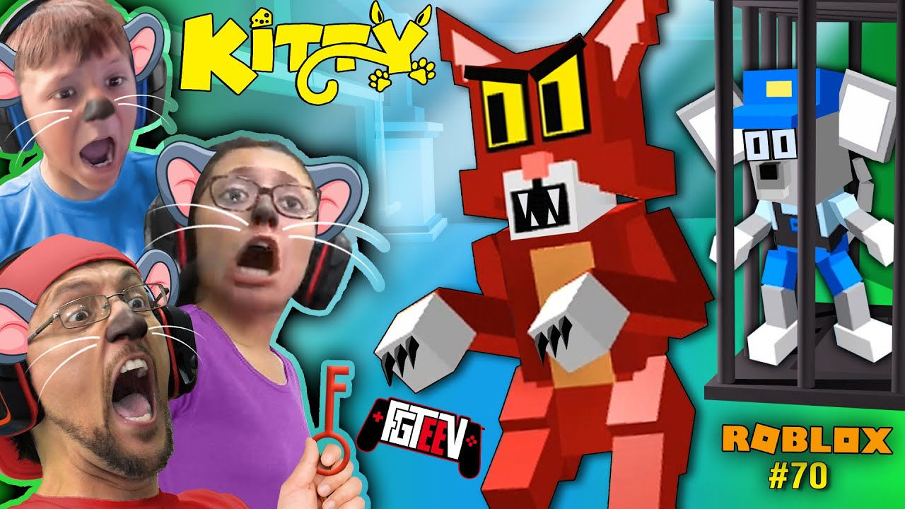 Roblox Kitty Escape The Cat As A Mouse Fgteev Multiplayer