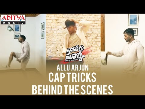 Allu Arjun Cap Tricks | Lover Also Fighter Also Song | Behind The Scenes | #NSNI