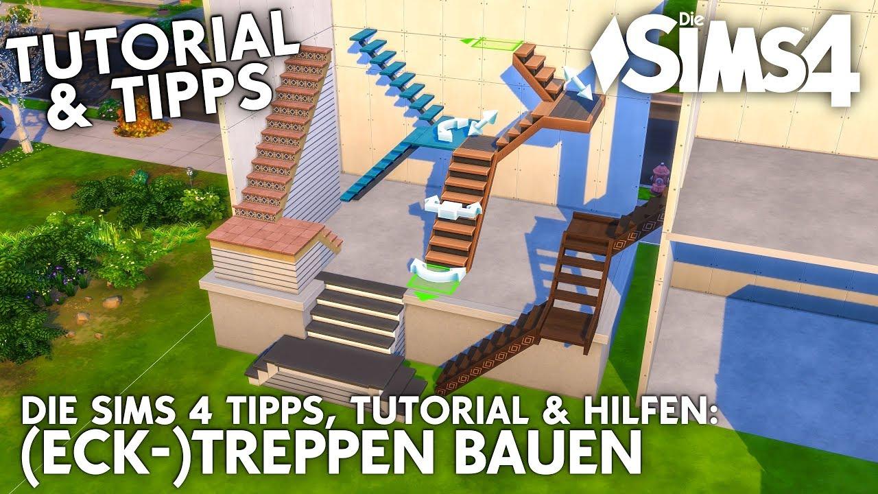 Die Sims 4 Treppen Tutorial Ecktreppen Bauen Wendeltreppen Tipps Mehr Youtube
